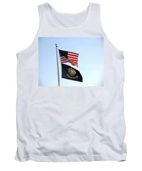 Tank Top featuring the photograph Patriotic Flags by Joseph Baril