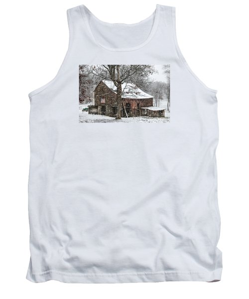 Patriotic Tobacco Barn Tank Top by Debbie Green