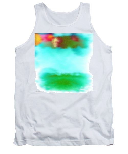 Tank Top featuring the digital art Peaceful Noise by Anita Lewis