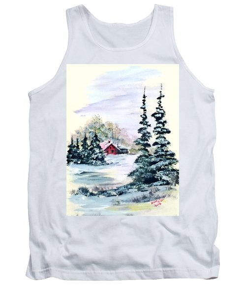 Peaceful Winter Tank Top by Dorothy Maier