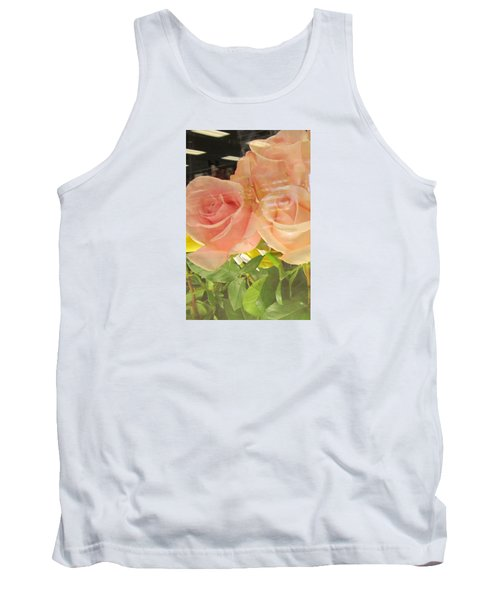 Peach Roses In Greeting Card Tank Top