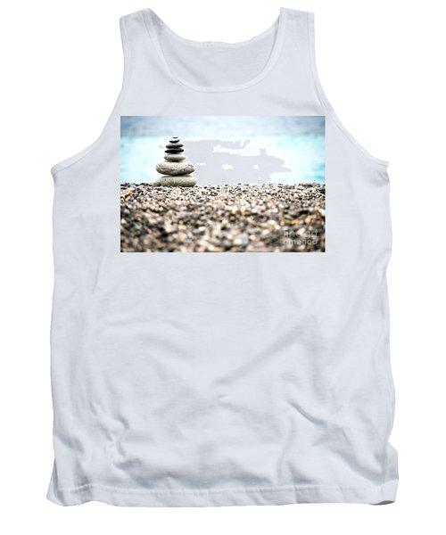 Pebble Stone On Beach Tank Top