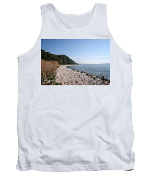 Tank Top featuring the photograph Pebbled Beach by Tracey Harrington-Simpson