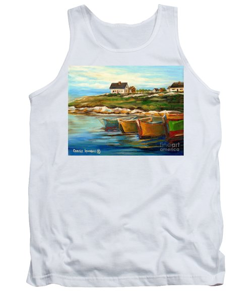 Peggys Cove With Fishing Boats Tank Top