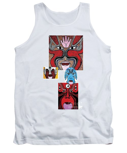 Tank Top featuring the painting Peking Opera No.1 by Fei A