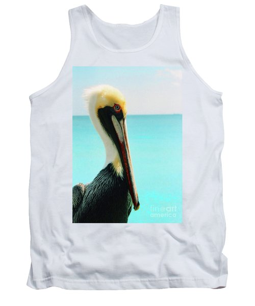 Pelican Profile And Water Tank Top by Heather Kirk