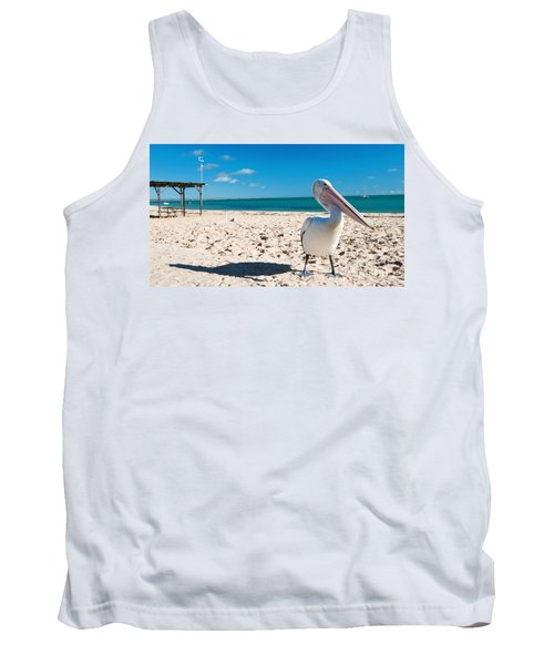 Pelican Under Blue Sky Tank Top