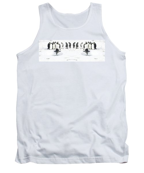 Tank Top featuring the photograph Penguin Lunch Time by R Muirhead Art