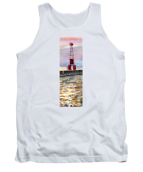 Pentwater South Pier Tank Top by LeAnne Sowa