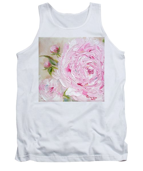 Tank Top featuring the painting Peony by Judith Rhue