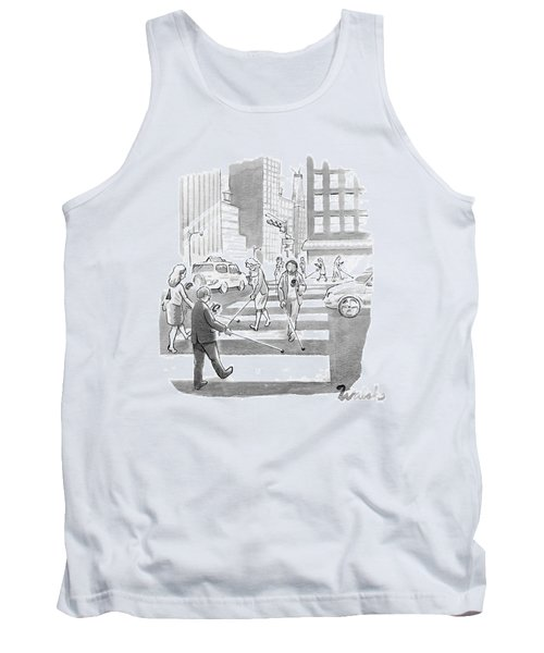 People Are Crossing The Street Looking Tank Top