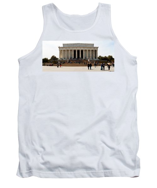People At Lincoln Memorial, The Mall Tank Top by Panoramic Images