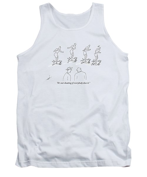 People Run On Pairs Of Dogs Tank Top