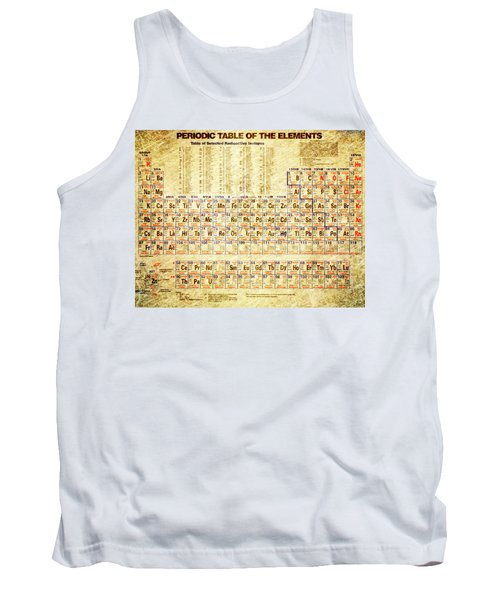 Periodic Table Of The Elements Vintage White Frame Tank Top