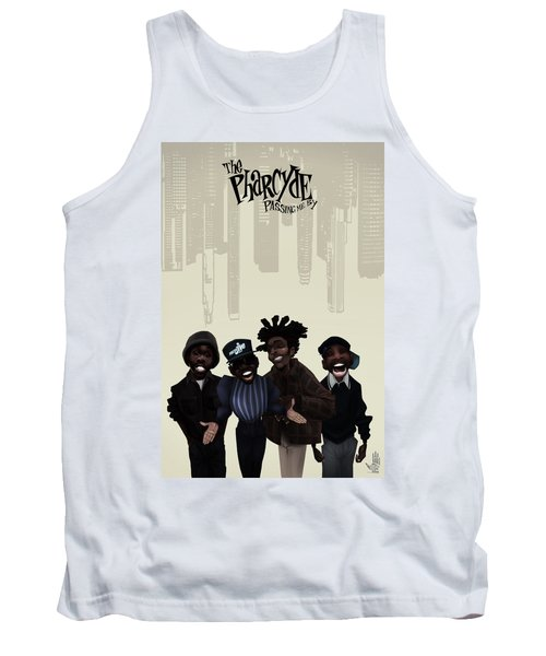 Tank Top featuring the drawing Pharcyde -passing Me By 1 by Nelson dedos Garcia