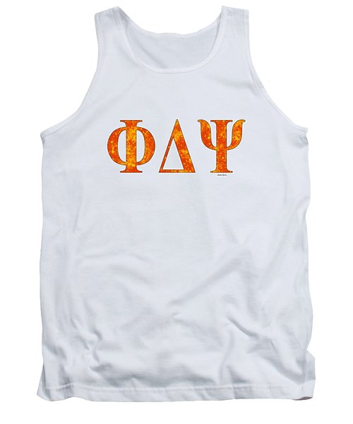 Tank Top featuring the digital art Phi Delta Psi - White by Stephen Younts