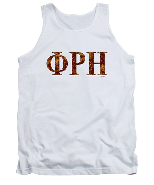 Tank Top featuring the digital art Phi Rho Eta - White by Stephen Younts