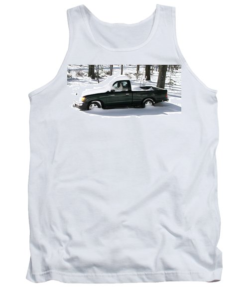 Tank Top featuring the photograph Pickup In The Snow by Pamela Hyde Wilson