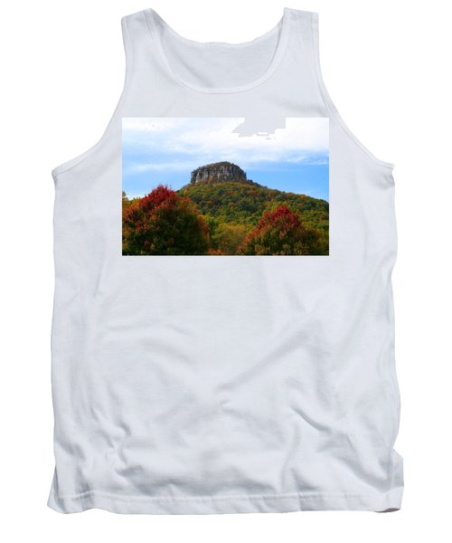 Pilot Mountain From 52 Tank Top by Kathryn Meyer