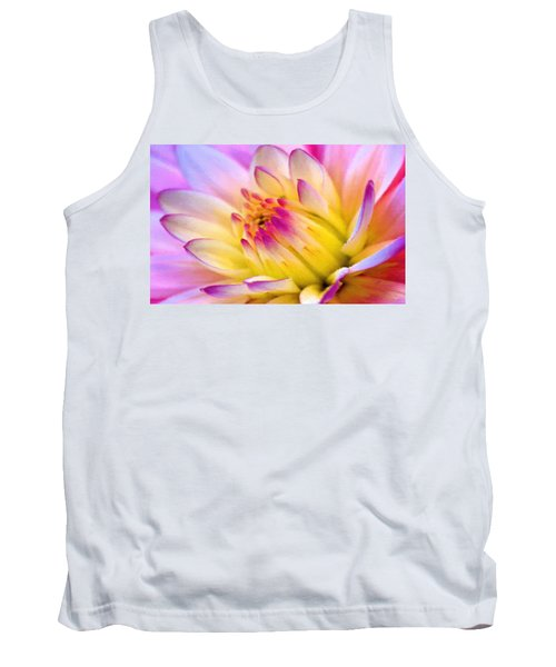 Pink And White Water Lily Tank Top