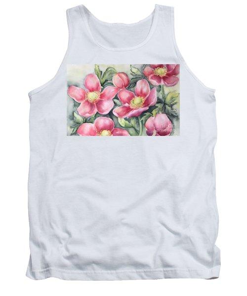 Pink Anemones Tank Top