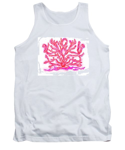 Tank Top featuring the digital art Pink Coral by Christine Fournier