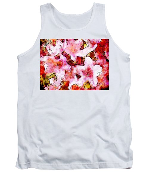 Tank Top featuring the painting Pink Flowers 2 by Greg Collins