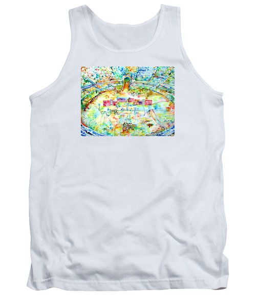 Pink Floyd Live At Pompeii Watercolor Painting Tank Top