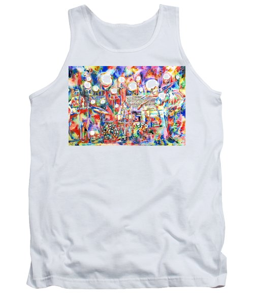 Pink Floyd Live Concert Watercolor Painting.1 Tank Top