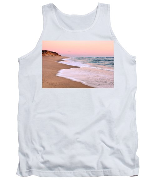 Pink Pastel Beach And Sky Tank Top by Roupen  Baker