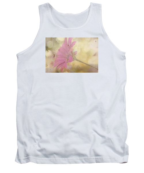 Pink Textured Gazania Tank Top
