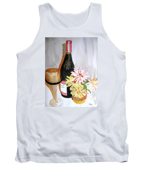Tank Top featuring the painting Pinot Noir by Sandy McIntire