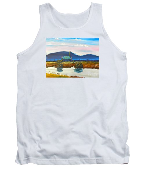 Tank Top featuring the painting Pittown by Pamela  Meredith