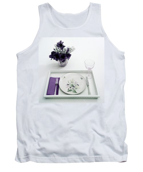 Place Setting With With Flowers Tank Top