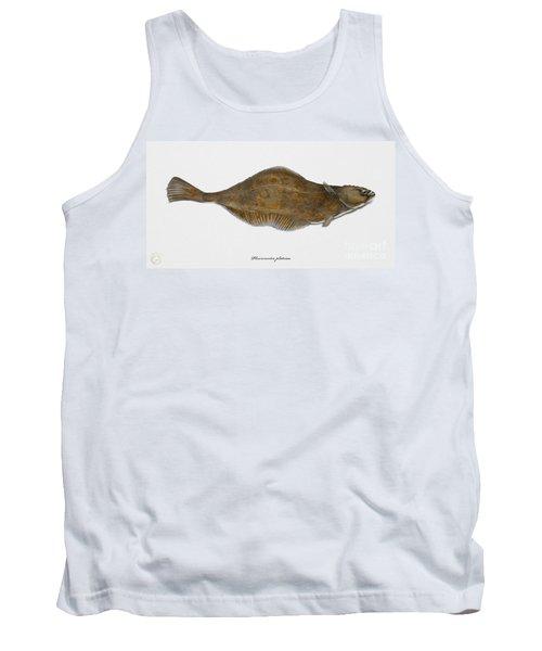 Plaice Pleuronectes Platessa - Flat Fish Pleuronectiformes - Carrelet Plie - Solla - Punakampela Tank Top