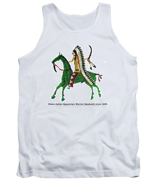 Tank Top featuring the digital art Plains Indians Equestrian Warrior Circa 1850 by Peter Gumaer Ogden