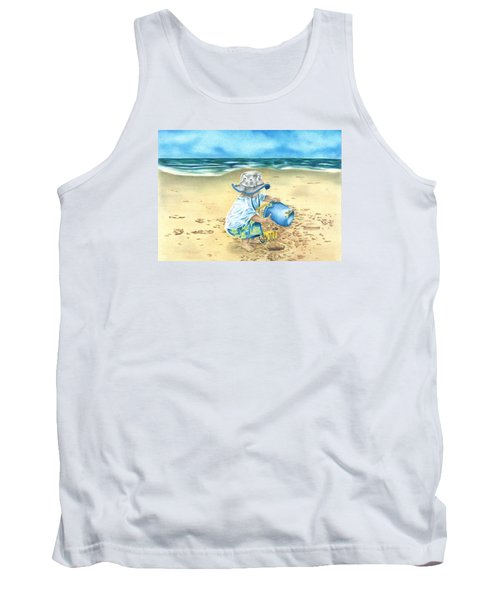 Playing On The Beach Tank Top