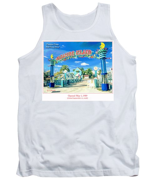 Pleasure Island Sign And Walkway Downtown Disney Tank Top