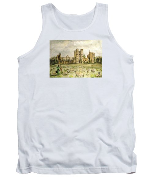 Plein Air Painting At Cowdray House Sussex Tank Top by Angela Davies