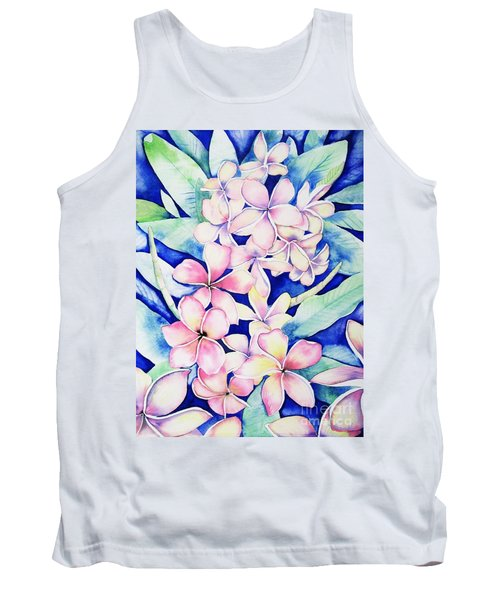 Plumerias Of Maui Tank Top