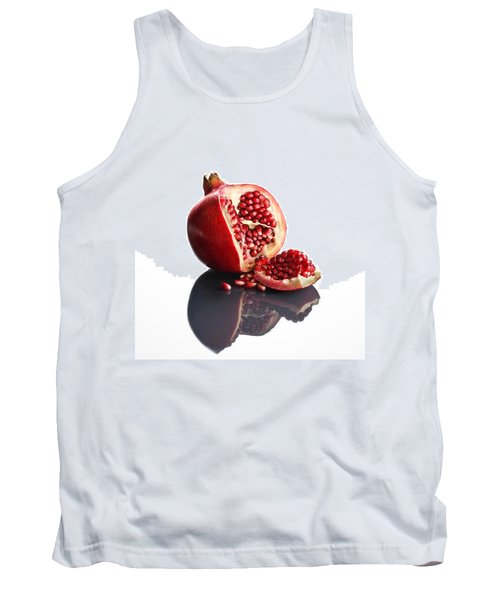 Pomegranate Opened Up On Reflective Surface Tank Top