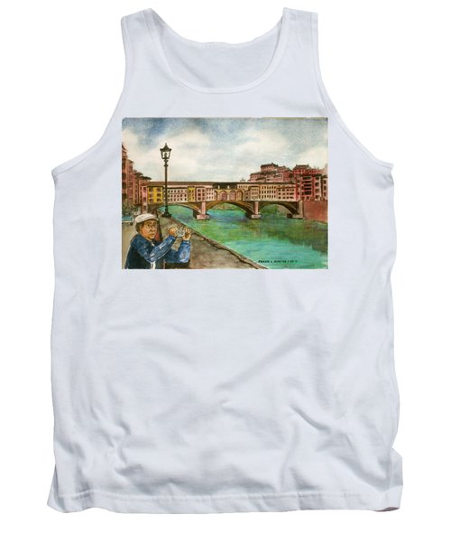 Ponte Vecchio Florence Italy Tank Top by Frank Hunter