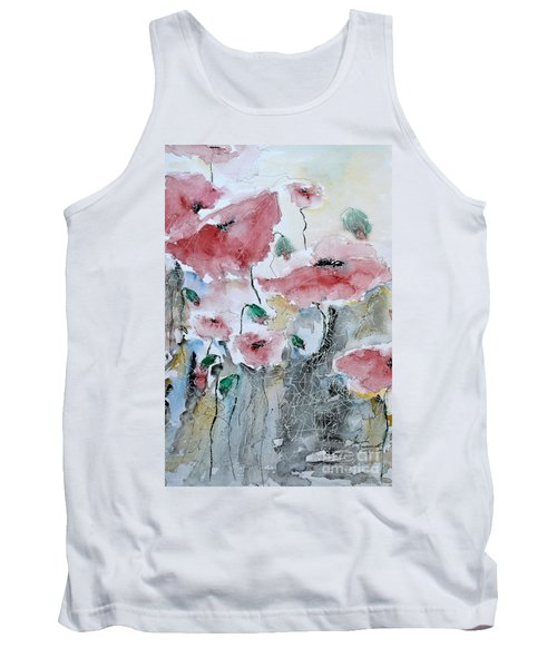 Poppies 01 Tank Top by Ismeta Gruenwald