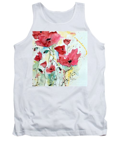Poppies 05 Tank Top by Ismeta Gruenwald