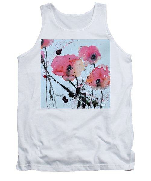Poppies- Painting Tank Top by Ismeta Gruenwald