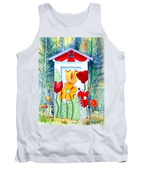 Poppy Potty Tank Top by Teresa Ascone