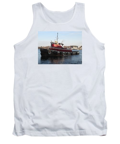 Portsmouth Harbor Tug Boat Winter Tank Top