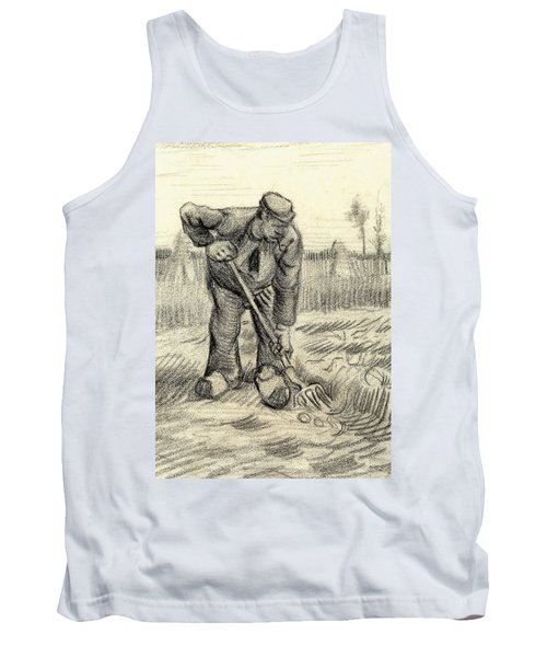 Potato Gatherer Tank Top by Vincent Van Gogh