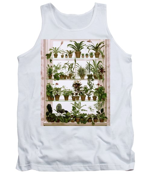 Potted Plants On Shelves Tank Top