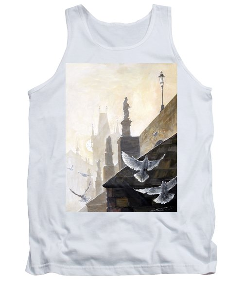 Prague Morning On The Charles Bridge  Tank Top